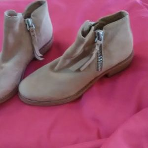 Tan suede Dolce Vita low rise boots